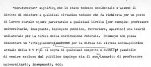E. Collotti, Definizione di Berufverbot